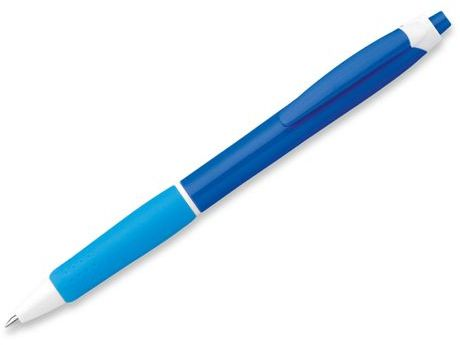 MINA plastové kuličkové pero, modrá náplň, tmavě modrá