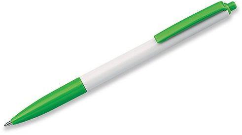SIMPLY plastové kuličkové pero, modrá náplň, světle zelená s potiskem
