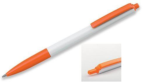 SIMPLY plastové kuličkové pero, modrá náplň, oranžová