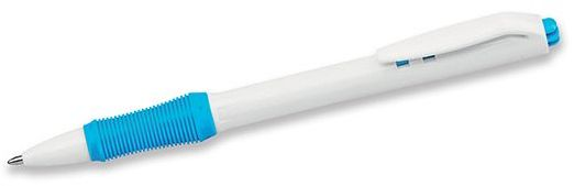 DENT plastové kuličkové pero, modrá náplň, světle modrá s potiskem