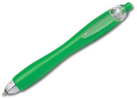 CARIN plastové kuličkové pero, modrá náplň, zelená