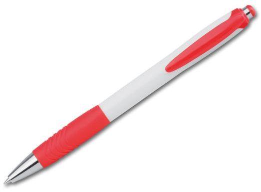 ABISKO plastové kuličkové pero, modrá náplň, červená s potiskem