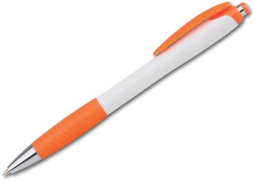 ABISKO plastové kuličkové pero, modrá náplň, oranžová