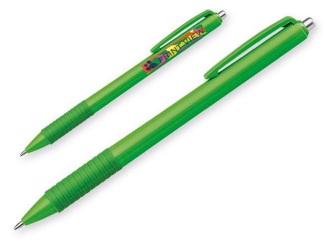 MILZA plastové kuličkové pero, modrá náplň