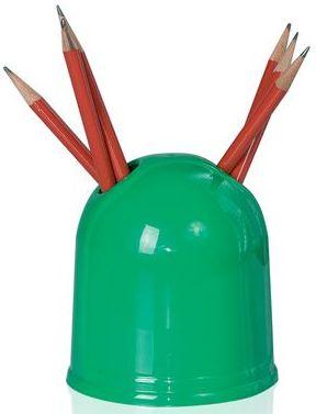 Zelený stojánek na tužky