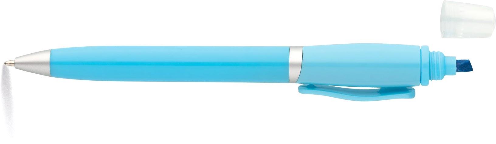 GLOW Kuličkové pero a zvýrazňovač světle modrý