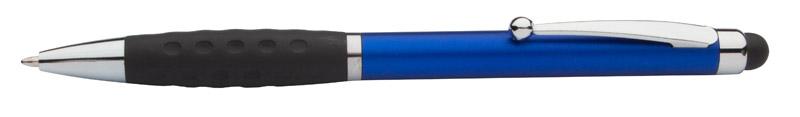 Stylus a kuličkové pero modré s potiskem