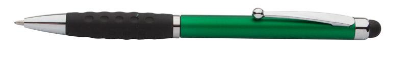 Stylus a kuličkové pero zelené