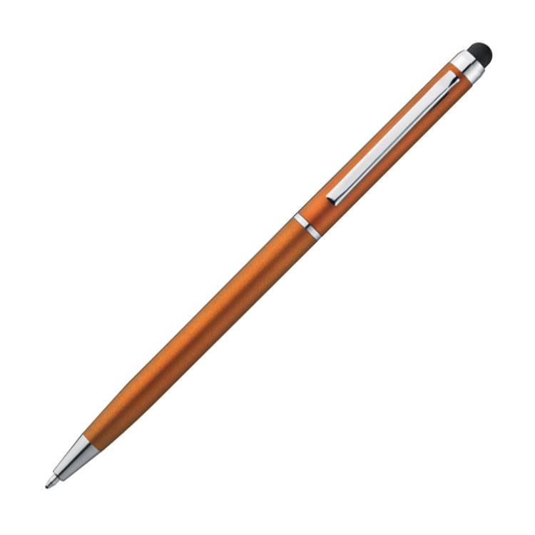 Oranžový stylus a kuličkové pero