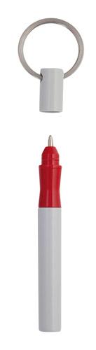 Koly červené kuličkové pero s klíčenkou