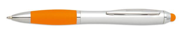 Stylus oranžové kuličkové pero Riotouch s potiskem
