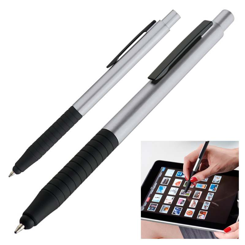 Stříbrné kuličkové pero a touch pen Davos