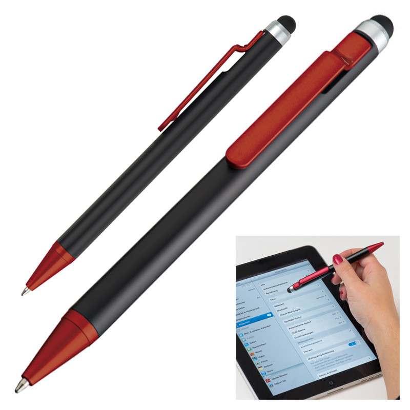 Červené kuličkové pero a touch pen Florida
