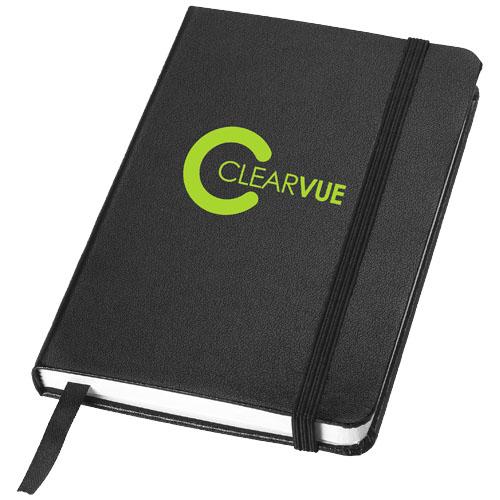 Zápisník s černým elastickým uzávěrem