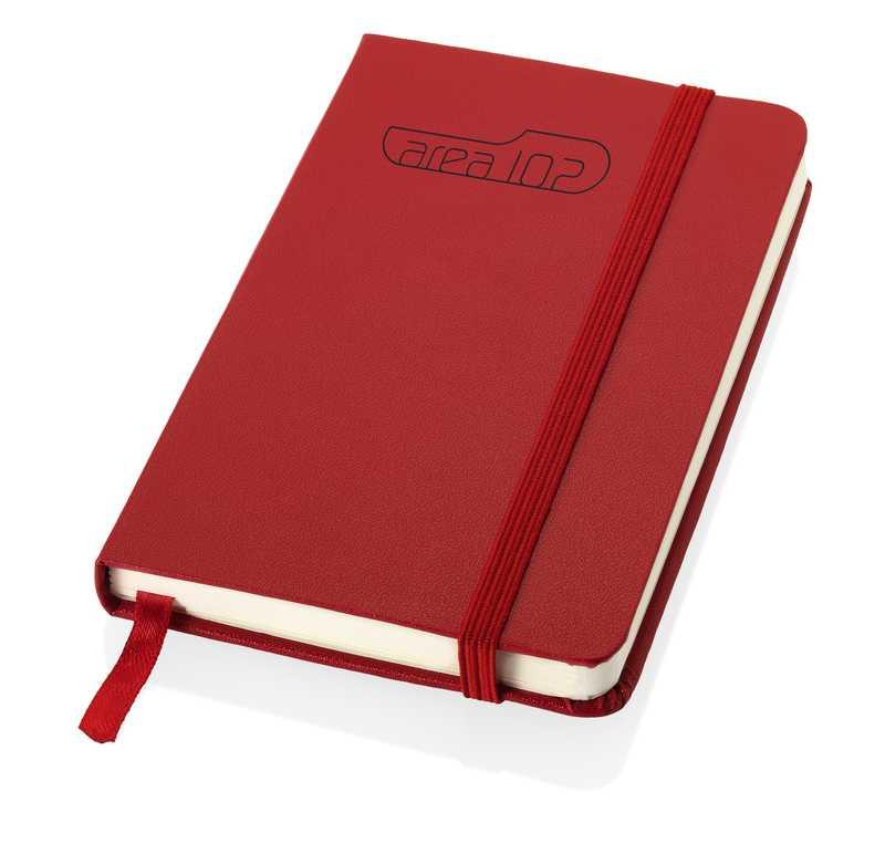 Zápisník s červeným elastickým uzávěrem