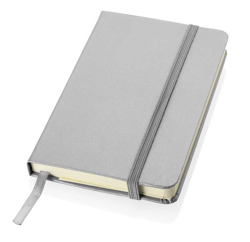 Zápisník se stříbrným elastickým uzávěrem