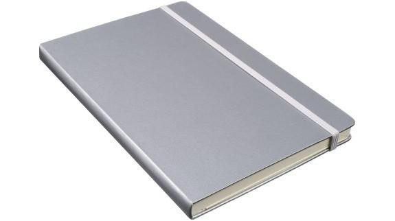 Notebook A5 stříbrný s potiskem