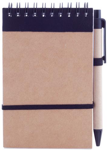 Ecocard černý notes