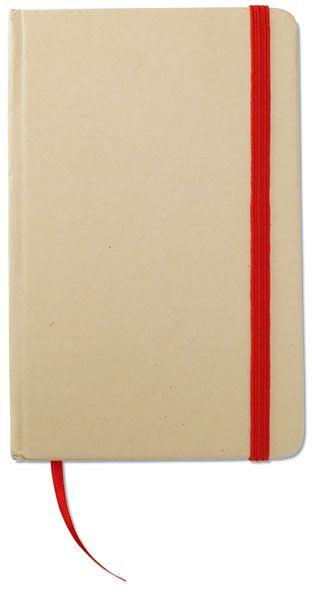 Recyklovaný zápisnik červený s potiskem