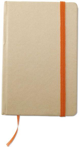 Recyklovaný zápisnik oranžový s potiskem