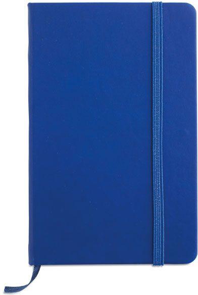 Zápisník s modrým uzavíráním na gumičku