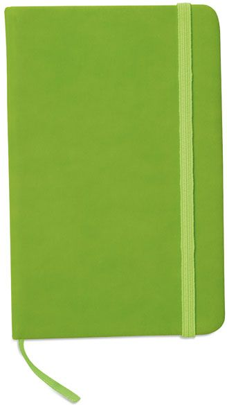Zápisník s limetkovým uzavíráním na gumičku