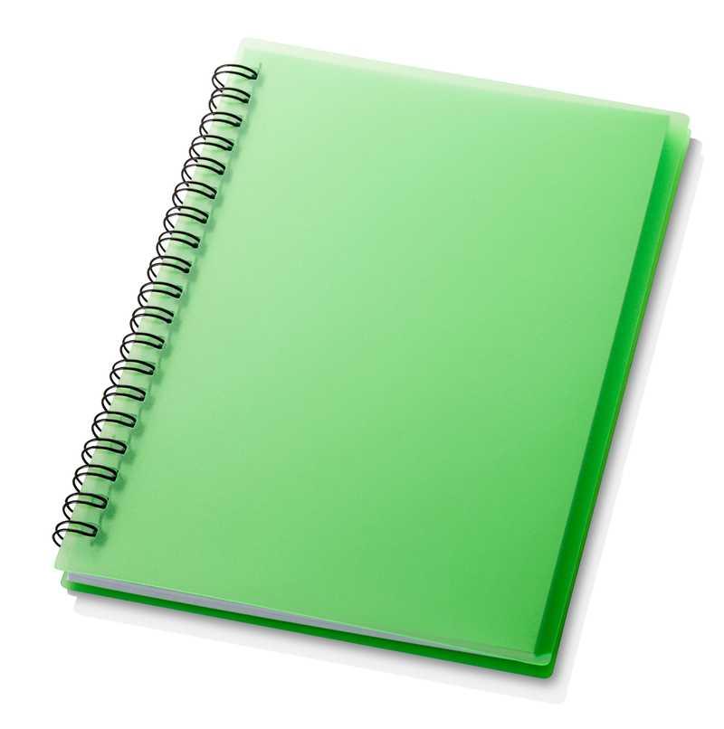 Zelený poznámník Duchess Spiral