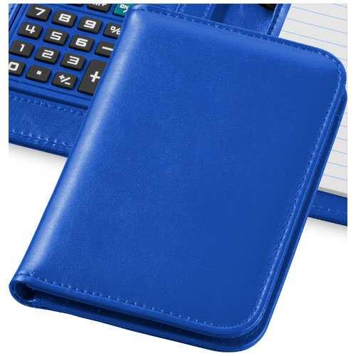 Modrý záznamník s kalkulačkou Smarti s potiskem