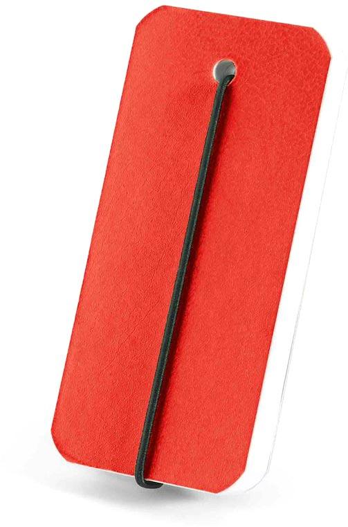 Blok červený s potiskem