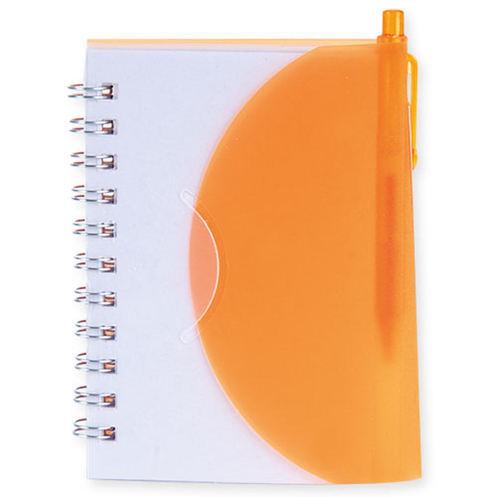 Bloček Zar oranžový s propiskou s potiskem