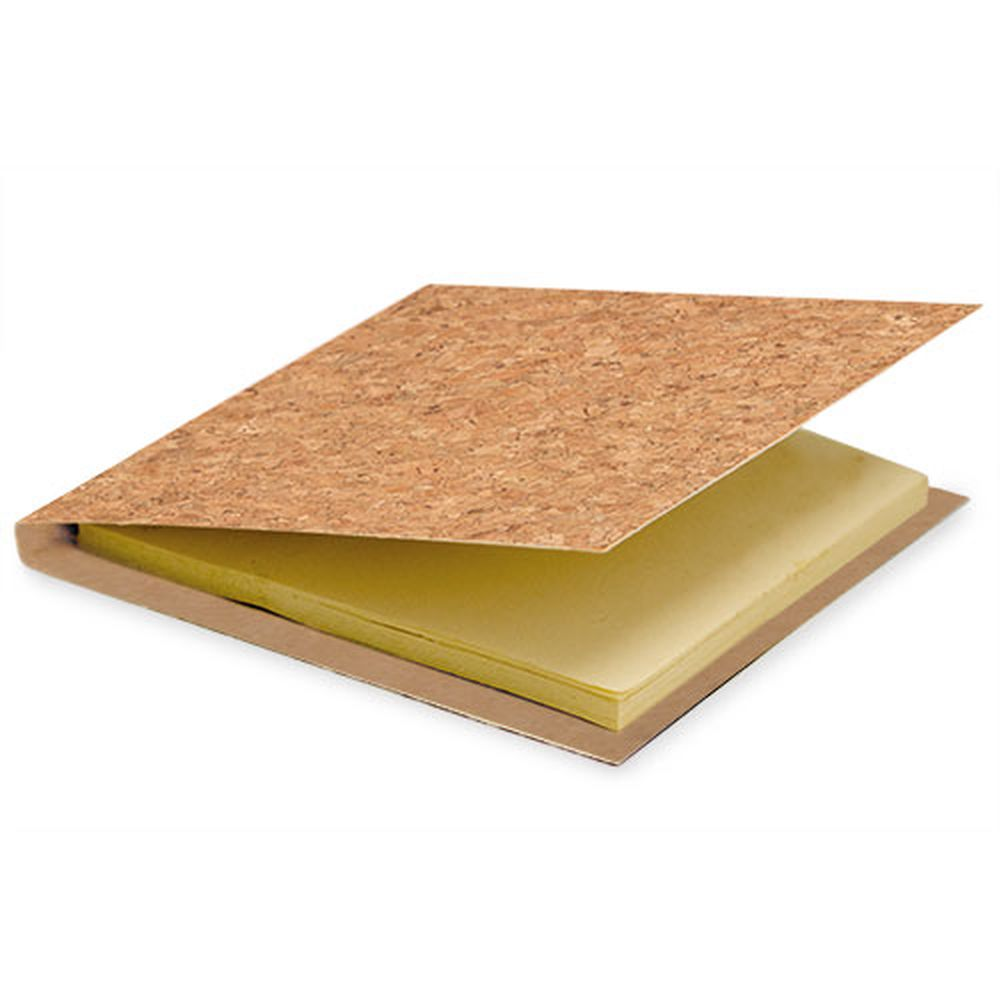 Korkový blok s lepícími papírky