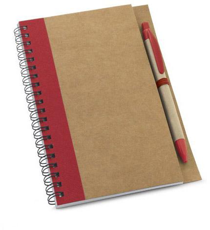 Papírový notes červený s potiskem