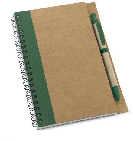 Papírový notes zelený