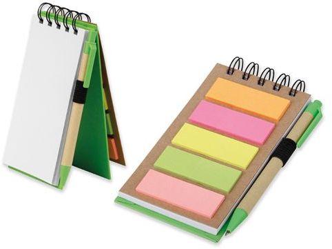 ALF psací blok s lepicími papírky a kuličkovým perem, modrá náplň, světle zelená