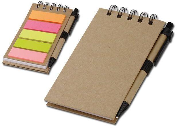 ALF psací blok s lepicími papírky a kuličkovým perem, modrá náplň, přírodní s potiskem