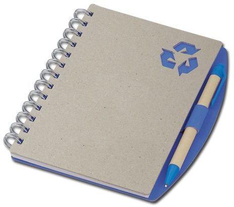 RAINER psací blok s kuličkovým perem, modrá náplň, modrá