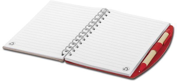 RAINER psací blok s kuličkovým perem, modrá náplň, červená