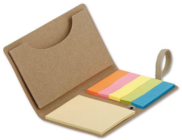 TAZY barevné lepicí papírky (22 ks/barva) v papírovém obalu, přírodní