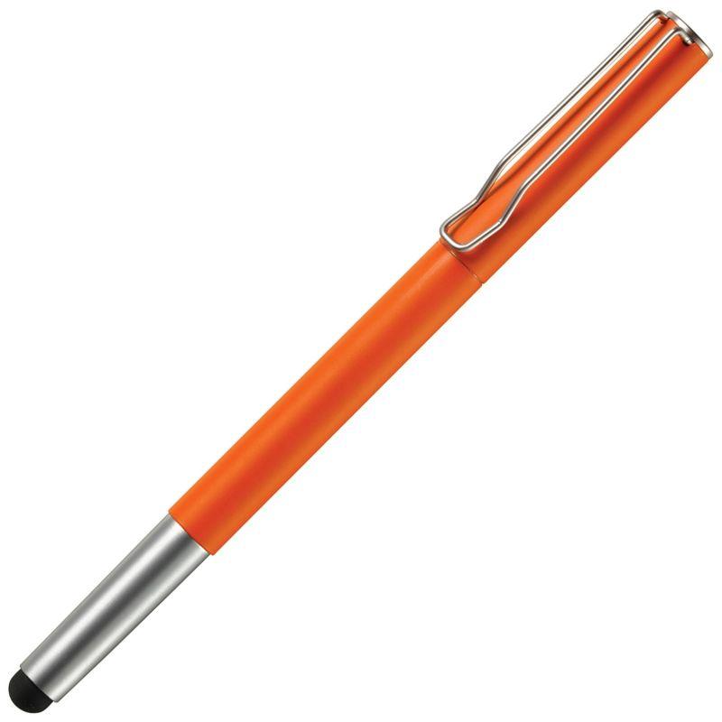 Oranžové dotykové kovové kuličkové pero s potiskem