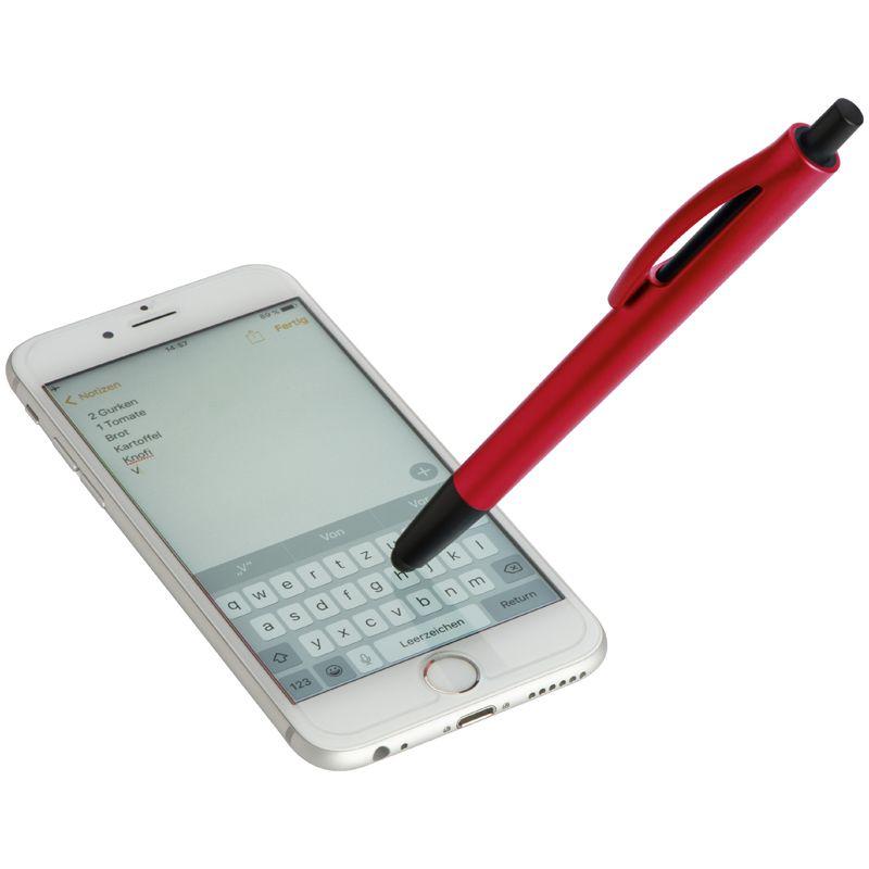 Plastové kuličkové pero červené