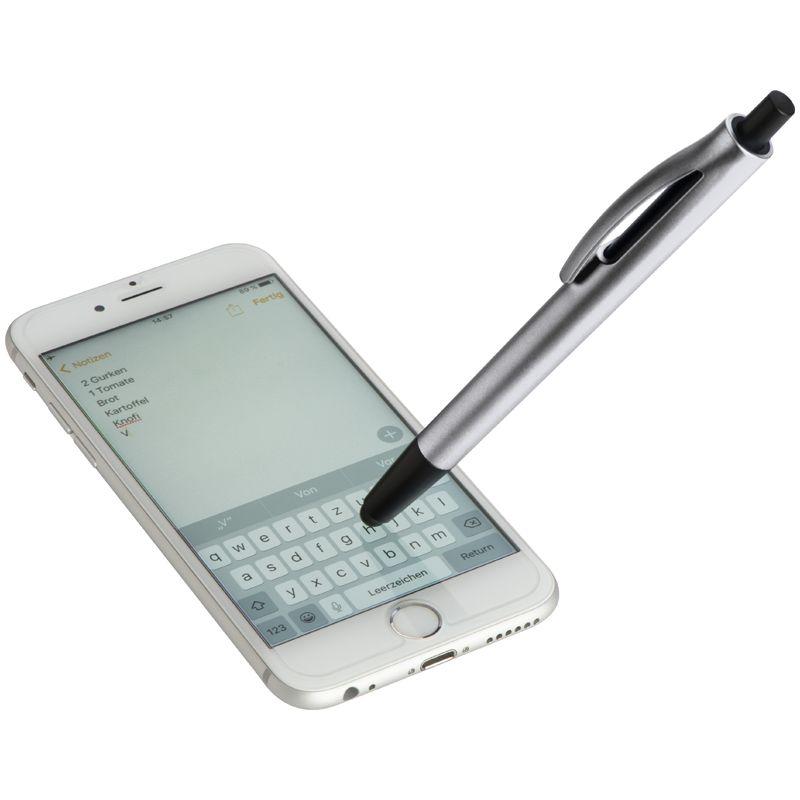 Plastové kuličkové pero šedé