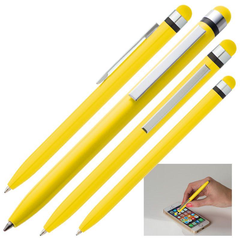 Kuličkové pero žluté s potiskem