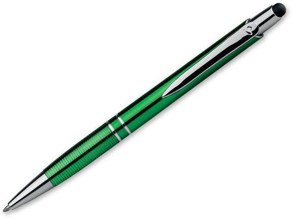 MARIETA UV STYLUS plast. kul. pero, modrá náplň 0,7 mm s nízkou viskozitou, SANTINI, světle zelená