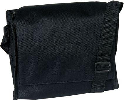 Černá taška přes rameno na suchý zip