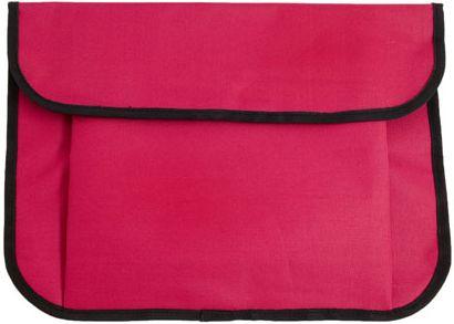 Červená taška na dokumenty se suchým zipem