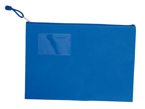 Modrá dokladovka na zip