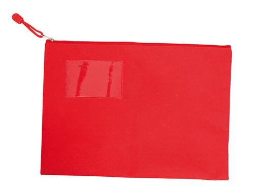 Červená dokladovka na zip
