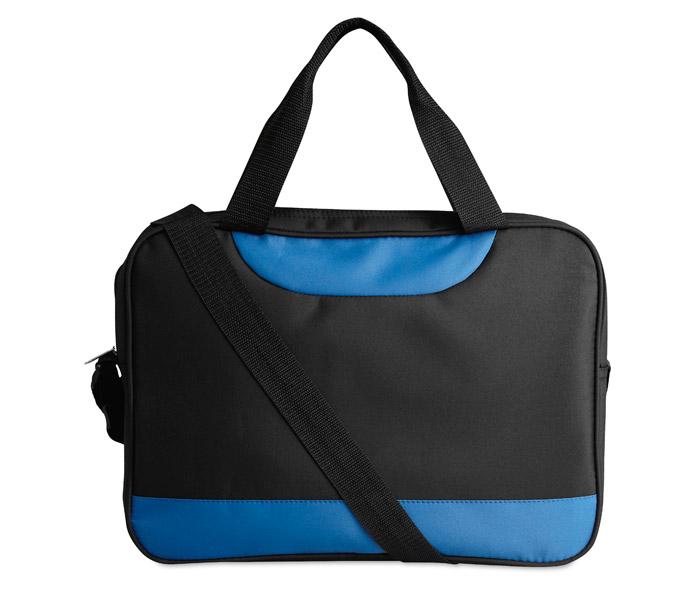 Modrá taška na dokumenty Micbag s potiskem