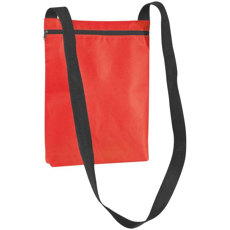 Červená taška přes rameno z netkanky