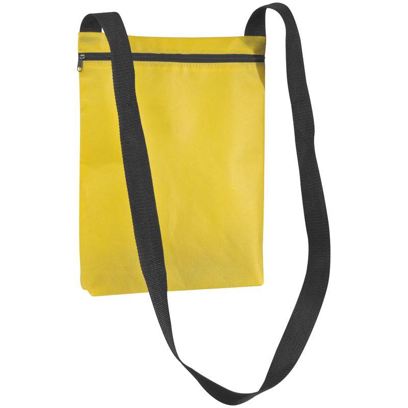 Žlutá taška přes rameno z netkanky